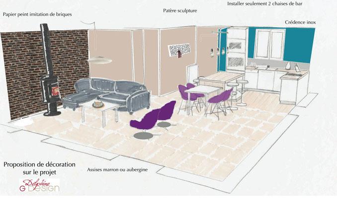 Proposition décoration salon
