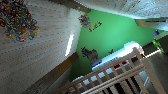aménagement dortoir sous les toits