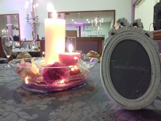 Décoration cadre bougies