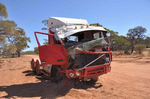 Verunfallter Truck