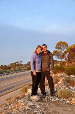 Florian und Corina bei Sonnenaufgang - verschlafen :-/