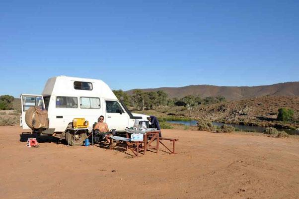 Schöner Camping im Bush