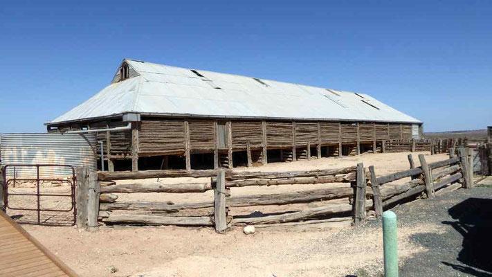 ehemaliger Schafstall im Mungo Nationalpark