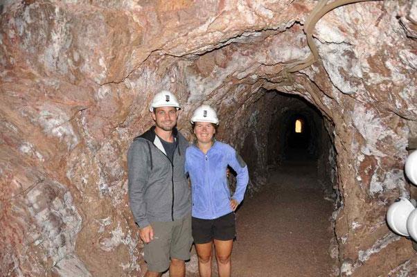 Kupfer-Mine Besichtigung