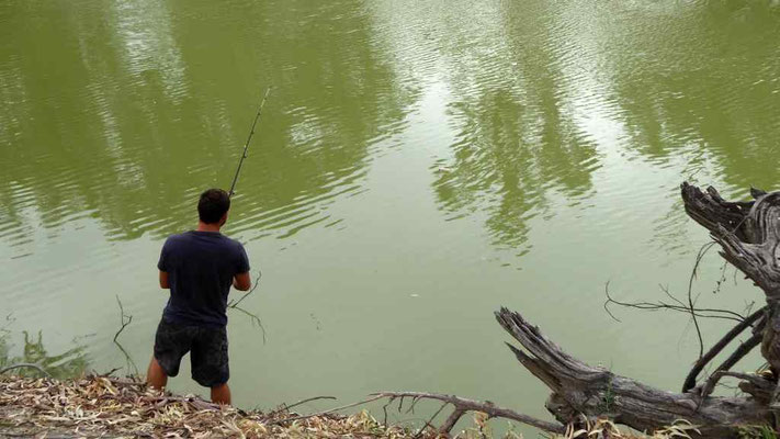 Fischen am Darling River