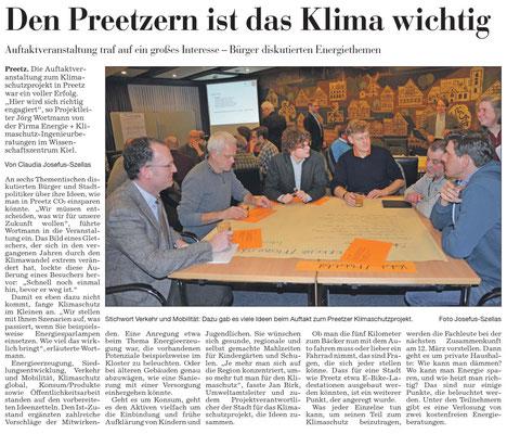 Pressebericht zur Auftaktveranstaltung