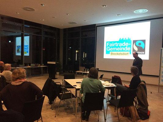 """Vortrag """"Fairtrade Gemeinde Stockelsdorf"""" beim Workshop """"Konsum"""""""