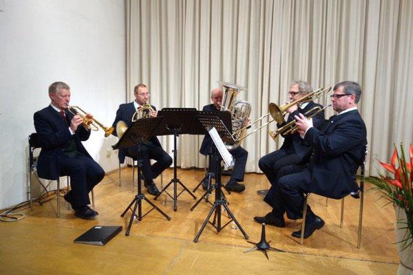 WAREPU Brass, von links: Gerhard Binder, Gerhard Forman, Leo Michalec, Markus Sonntag und Franz Neubauer