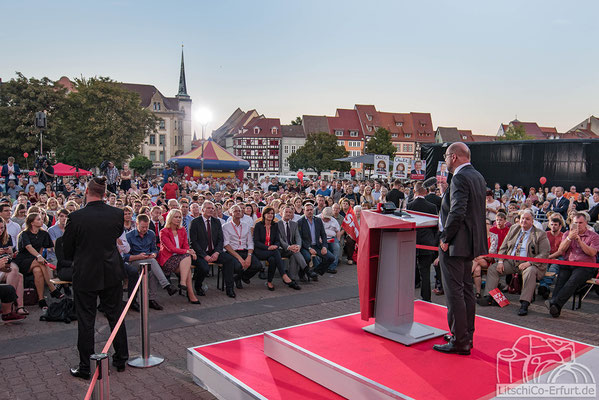 SPD Kanzlerkandidat Martin Schulz in Erfurt