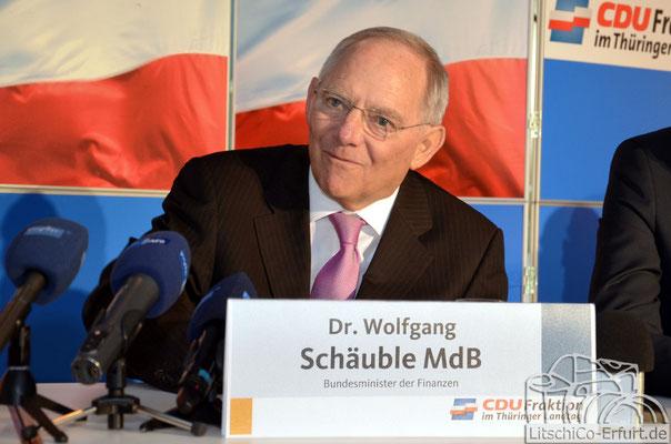 Dr. Wolfgang Schäuble beim Jahresempfang der CDU-Landtagsfraktion in Erfurt