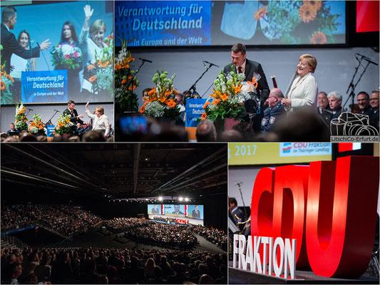 Bundeskanzlerin Angela Merkel in Erfurt