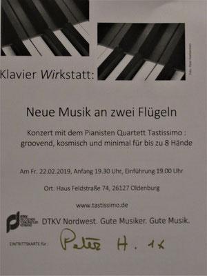 2019: Tastissimo zu Gast in der KlavierWIRKstatt!