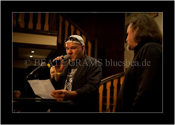 Verleihung German Blues Award: Solo/Duo, Georg Schroeter, Abi Wallenstein