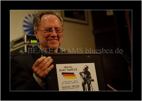 Andrzej Matysik, Verleihung German Blues Award - Ehrenpreis international