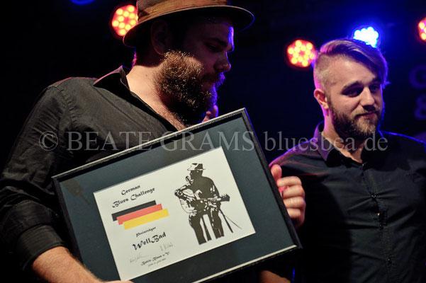 Wellbad gewinnt die German Blues Challenge 2015 in Eutin und fliegt im Januar 2016 zur IBC nach Memphis (USA).