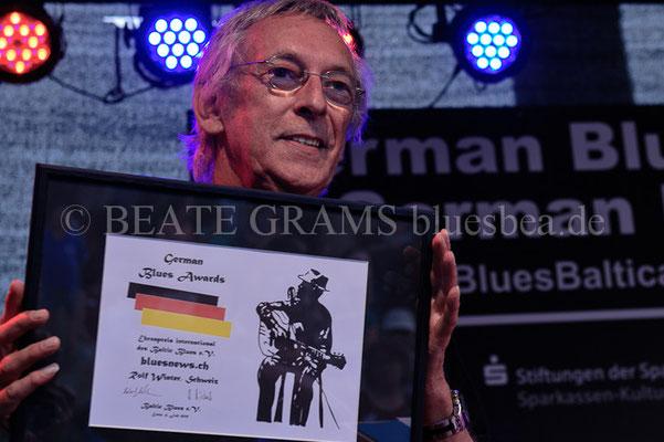 Rolf Winter - Verleihung German Blues Award – Ehrenpreis: International