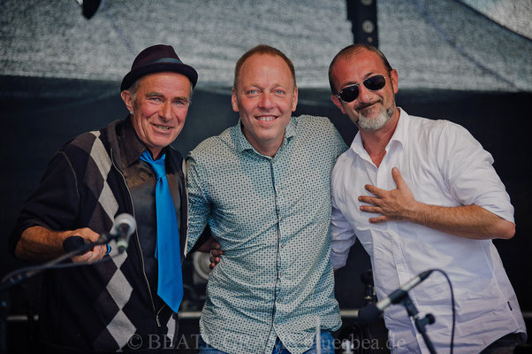 vlnr: Mick M, Martin Röttger, Farhad Heet.