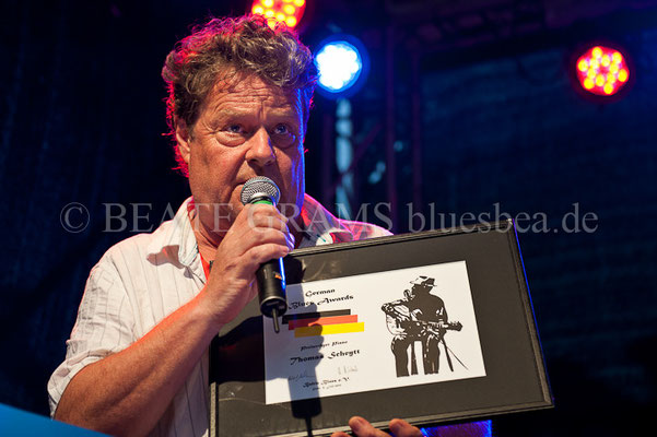 Thomas Scheytt, Verleihung German Blues Award – Ehrenpreis: Piano