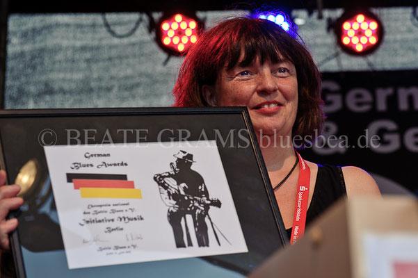 Initiative Musik, Berlin, Ina Kessler, Verleihung German Blues Award – Ehrenpreis: National