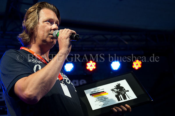 Andreas Bock, Verleihung German Blues Award – Ehrenpreis: Drums/Percussion