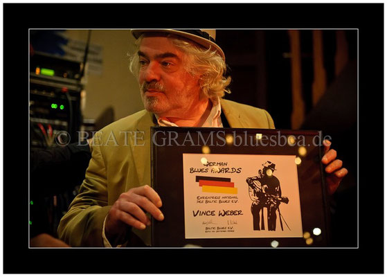 Vince Weber, Verleihung German Blues Award - Ehrenpreis: National