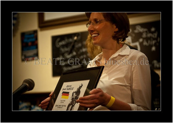 Marikke Behrens - Kurverwaltung Ostseebad Binz, Verleihung German Blues Award: Festival