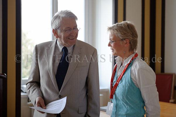vlnr: Klaus-Dieter Schulz (Bürgermeister Eutin), Barbara Bloch.