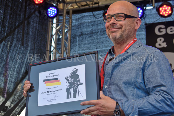 Michael Maass - Verleihung German Blues Award – Ehrenpreis:Festival