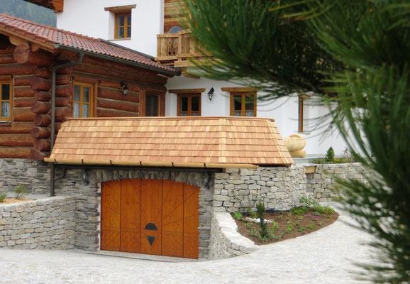 Terrassenverkleidung Lärchenholzschindel
