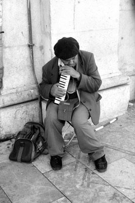 Nicht Fado, aber doch traurig, Melodica-Gedudel, Lissabon (Portugal)