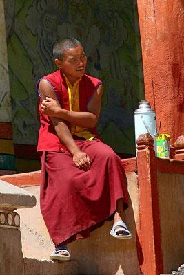 Junger Mönch im Kloster Hemis, Ladakh, Kaschmir