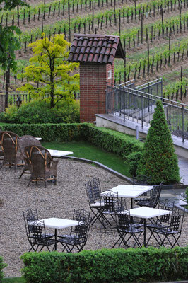Im Garten der Villa Tiboldi, S. Stefano bei Canale