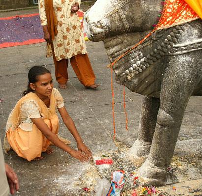 Rituale beim Hindu-Tempel im Kangra-Tal, Himachal Pradesh, Nordindien