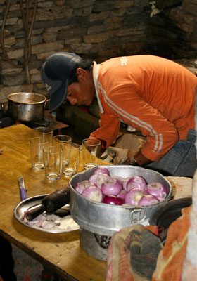 Leh-Manali Transhimalaya: Koksar, letzte Raststätte vor dem Rohtang La