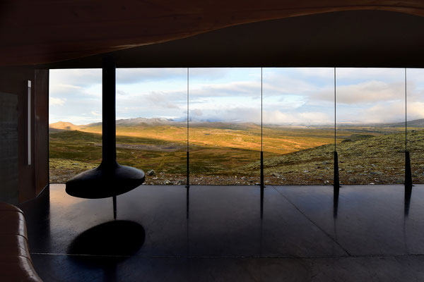 Geschützter Aussichtspunkt auf Snøhetta; 1120 müM