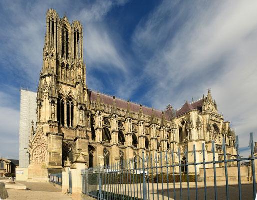 Kathedrale Notre-Dame von Reims, Seitenansicht