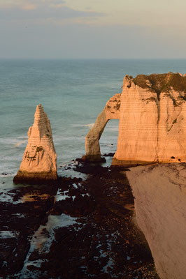 Étretat (F), Département Seine-Maritime, Region Haute-Normandie, Porte d'Aval und die Aiguille