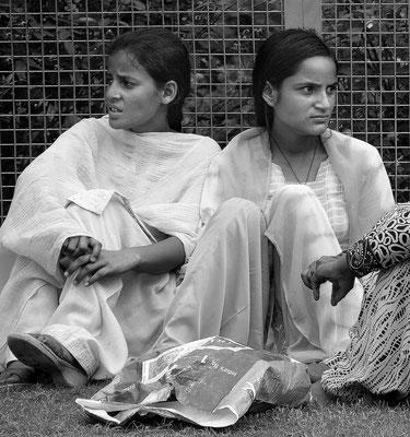 Pilgerinnen zum Hindu-Kloster im Kangra-Tal, Bundesstaat Himachal Pradesh, Nordindien