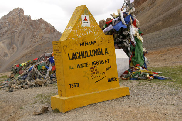 Leh-Manali Transhimalaya: Passhöhe Lachulung La 5065 m