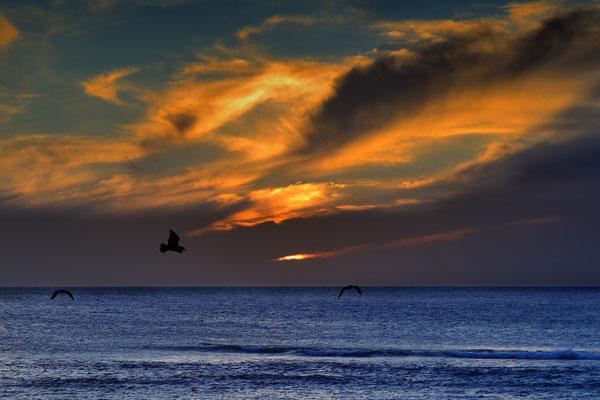 Sunset bei El Golfo; 7. Februar 2016