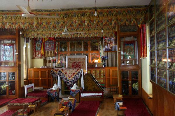 Lehr- und Vortragsraum am Exilsitz des Dalai Lama