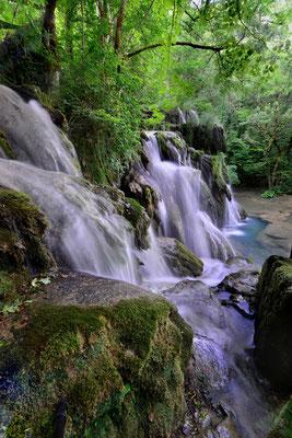 Cascade des tufs; bei Arbois, franz. Jula; 5. Juli 2015