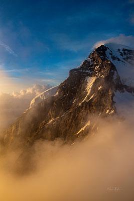 Wolkenzug über dem Mönch; 19. Juli 2020