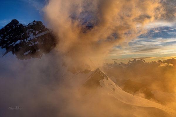 Wolkenzug über der Jungfrau; 19. Juli 2020