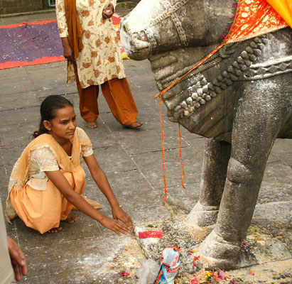 Kangra Tal, Opferrituale im Hindutempel