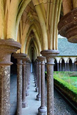 Le Mont-Saint-Michel (F), Département Manche, Basse-Normandie, Kreuzgang der Benediktiner-Abtei