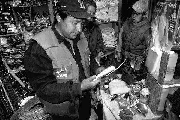 Mineur in Potosì, 4200 m ü M (Bolivien)