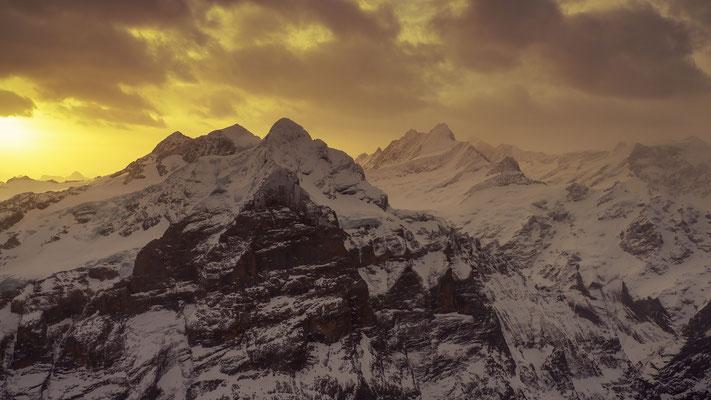 Berner Alpen, Saharastaub; 6.2.2021