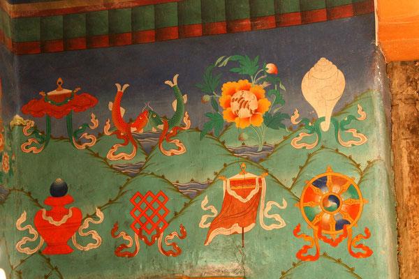 Decken- und Wandmalereien Kloster Rizong