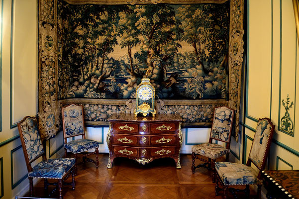 Schloss Sully-sur-Loire; Tapisserie im kleinen Salon